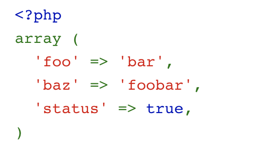 Highlighted PHP code
